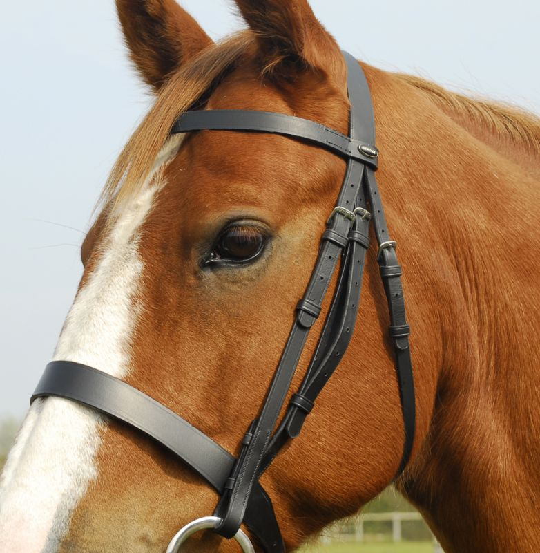 Heritage English Leather Hunter Bridle with Wide Cavesson Noseband