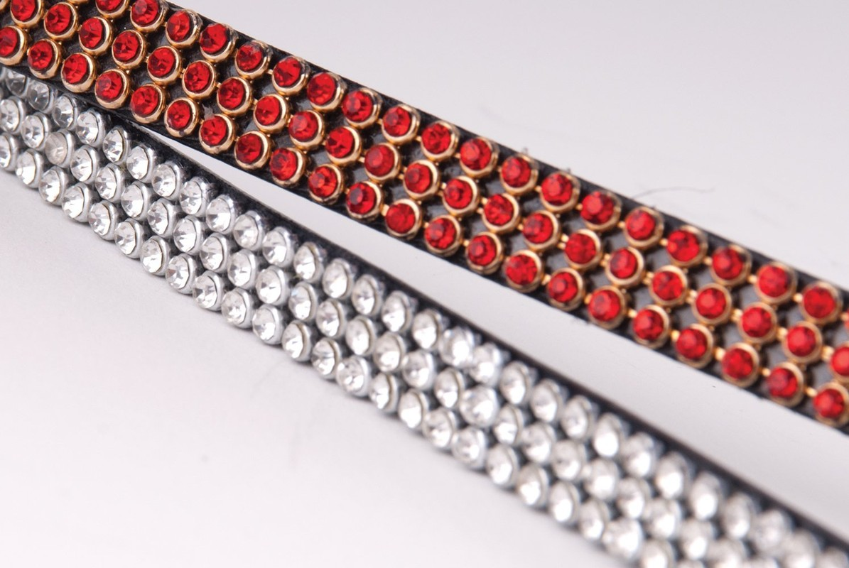 Heritage Three Row Crystal Browband