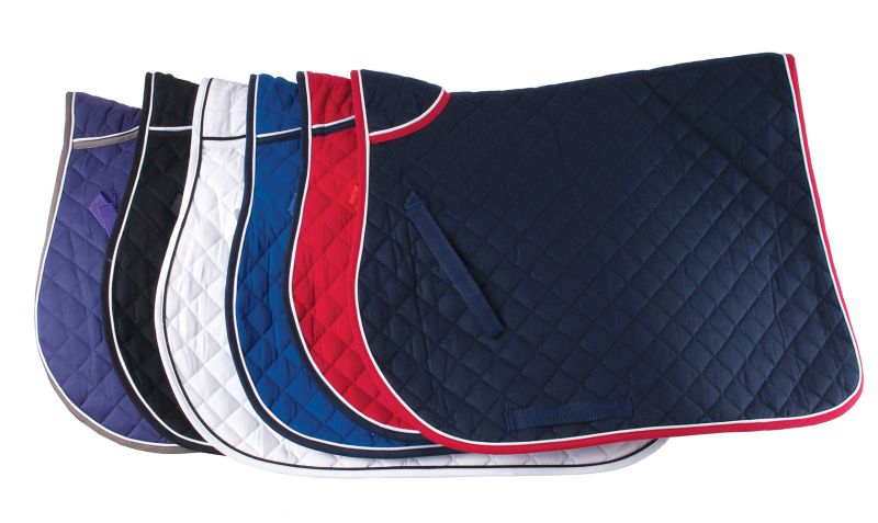 Rhinegold Quilted Saddle Cloth with Twin Binding