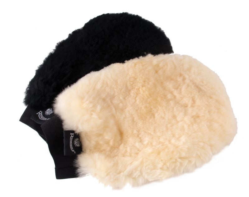 Rhinegold Real Sheepskin Grooming/Finishing Mitt