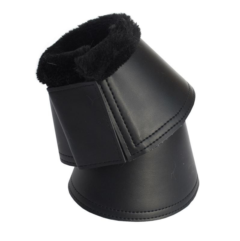 Rhinegold Fleece Trim Neoprene Over Reach Boots-PU Wrapped