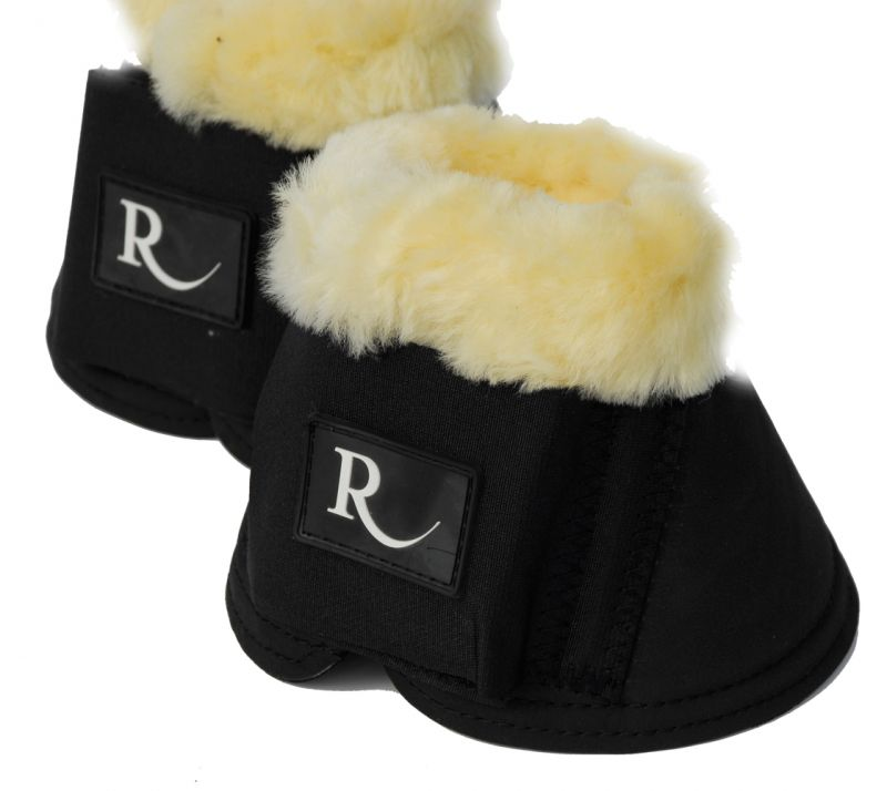 Rhinegold Sheepskin Trimmed Neoprene Over Reach Boots