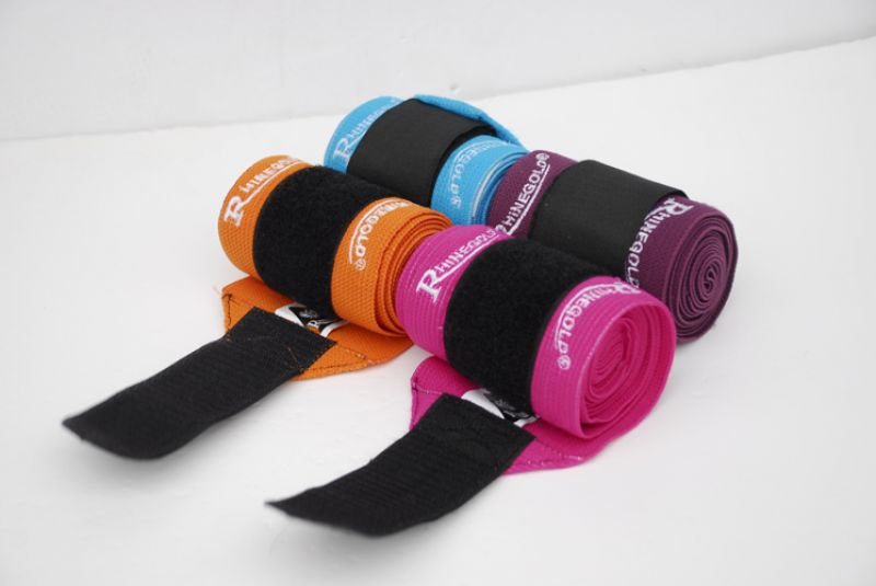 Rhinegold Elasticated Training Bandages- Reduced due to black velcro