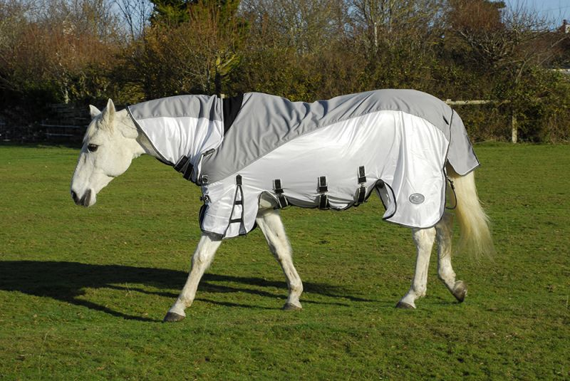 Rhinegold Masai3 Full Neck Outdoor/Fly Rug with Waterproof Topline and Side Skirts