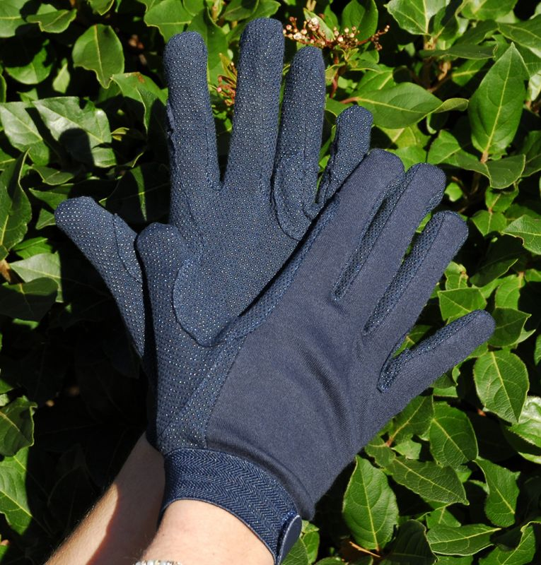 Rhinegold Cotton Pimple Palm Gloves