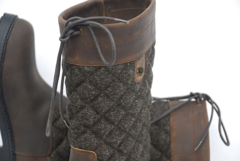 Rhinegold Elite Georgia Tweed Leather Country Boot
