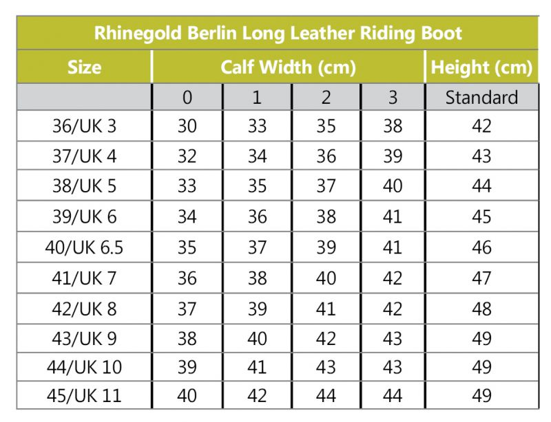 Rhinegold Berlin Long Leather Riding Boot