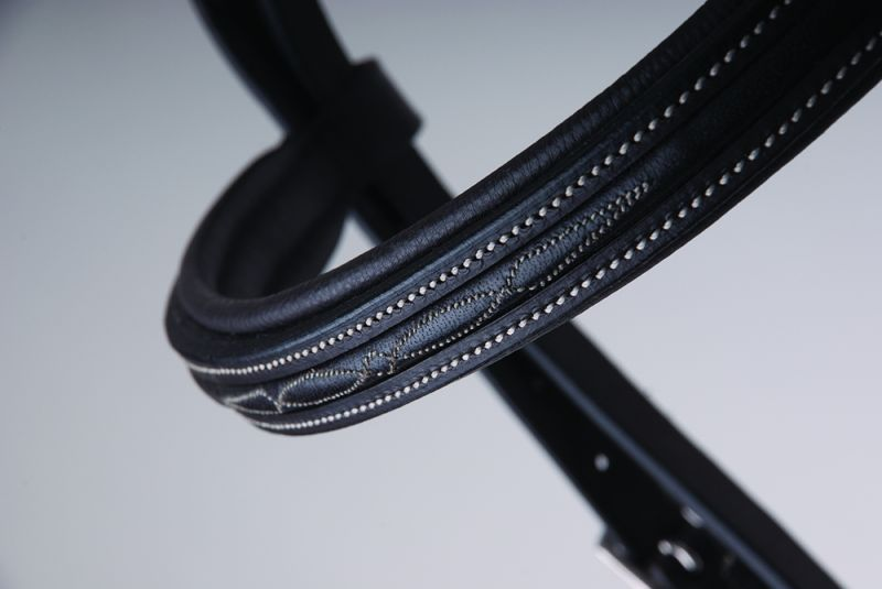 Rhinegold 'Elegance' German Leather Bridle with Cavesson Noseband