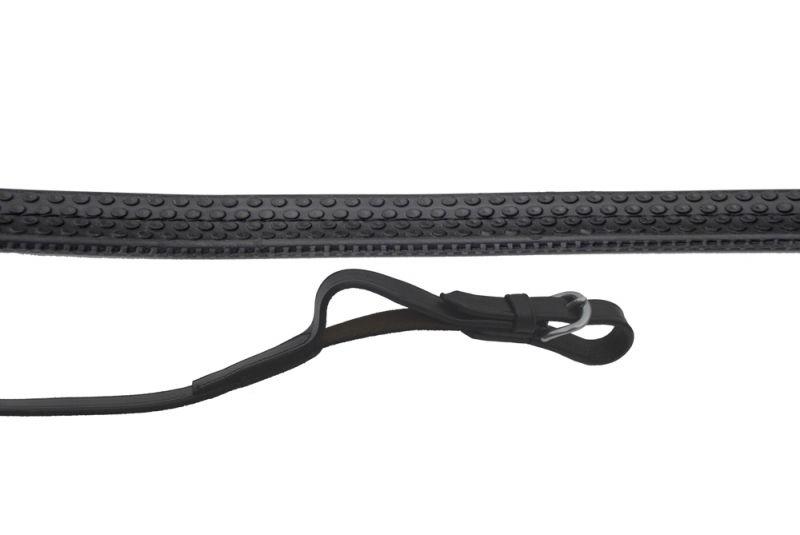 Rhinegold German Leather Rubber Covered Flexi Reins