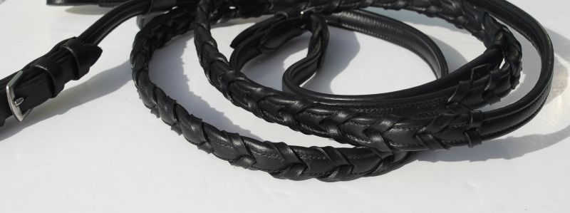Rhinegold Softee  Leather Laced Reins