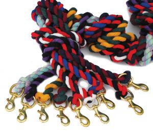 Rhinegold Twin Coloured Lead Rope