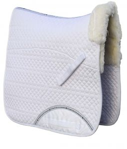 Rhinegold Real Sheepskin Lined Dressage Saddle Cloth