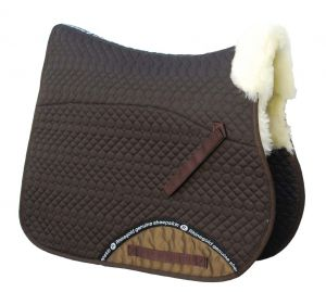 Rhinegold Real Sheepskin Lined Saddle Cloth