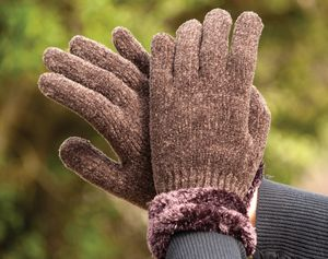 Harlequin Chenille Gloves With Cuff