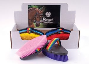 Rhinegold Large Body Brushes -Mixed Colours