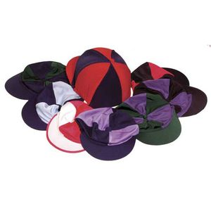Harlequin Lycra Hat Covers-Quartered Colours